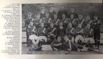 De La Salle Football Team 1907, Thomas Ashe third from left, middle row.