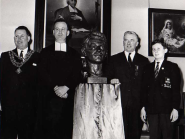 Grandnephew Sean Ashe at unveiling of bust of Thomas Ashe at De La Salle Waterford, 1966