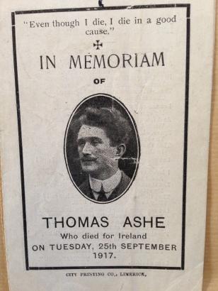 Thomas Ashe Memorial Card, Front