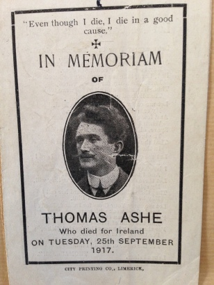 Thomas Ashe Memorial Card, Front