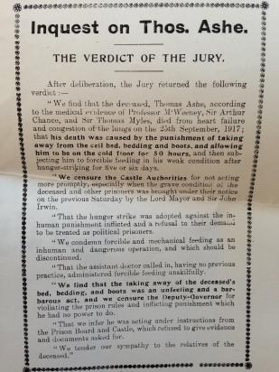 Inquest on Thomas Ashe, The Verdict of the Jury