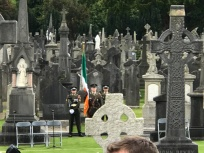 Soldiers and Irish Flag Glasnevin Cemetery