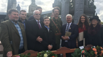 Members of Ashe Family at State Commemoration. Also GAA President Aogán Ó Fearghaíl