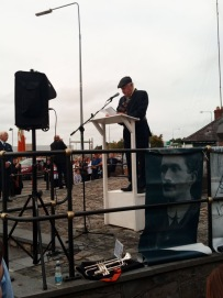 Noel McAllister speaking at Thomas Ashe Commemoration
