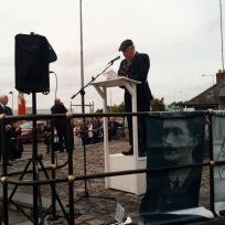 Noel McAllister speaking at Thomas Ashe Commemoration