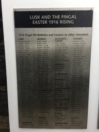 1916 Memorial Lusk Volunteers