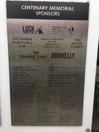 1916 Memorial Lusk Sponsors